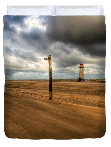 Storm Brewing Duvet Cover by Adrian Evans