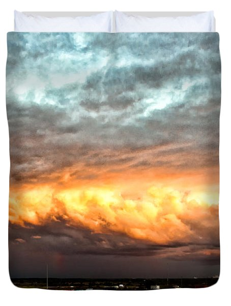 Storm Glow Duvet Cover by Christopher Holmes
