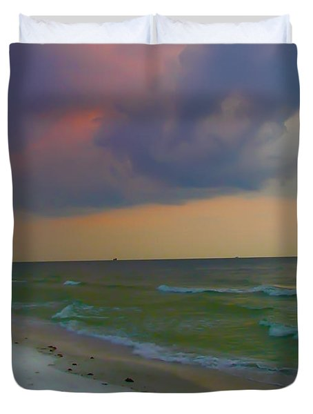 Storm Warning Duvet Cover by Bill Cannon