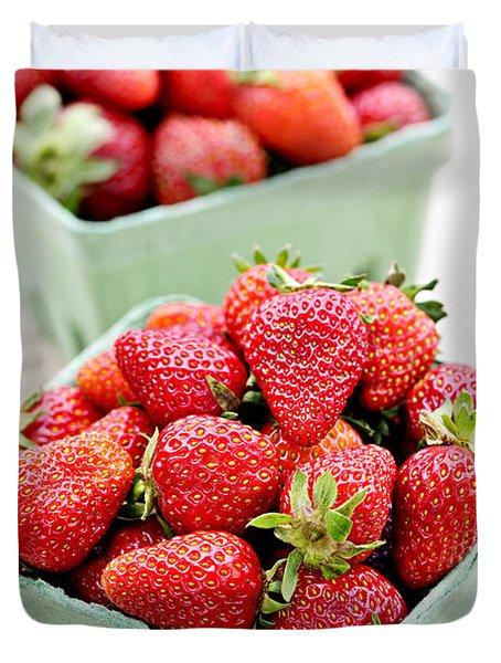 Strawberries Duvet Cover by Elena Elisseeva