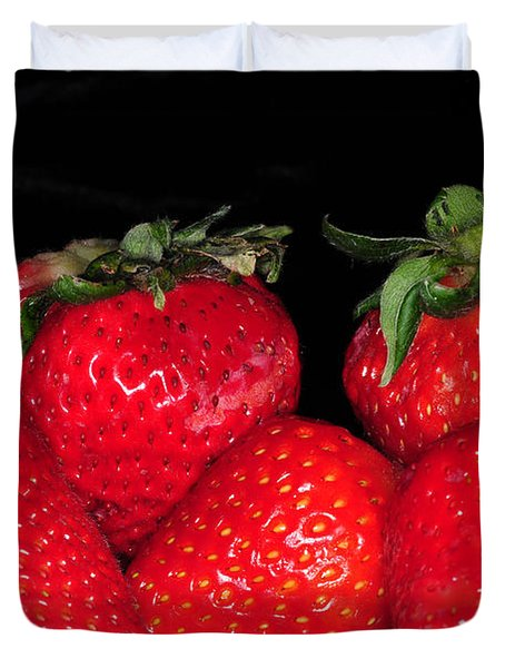 Strawberries Duvet Cover by Paul Ward