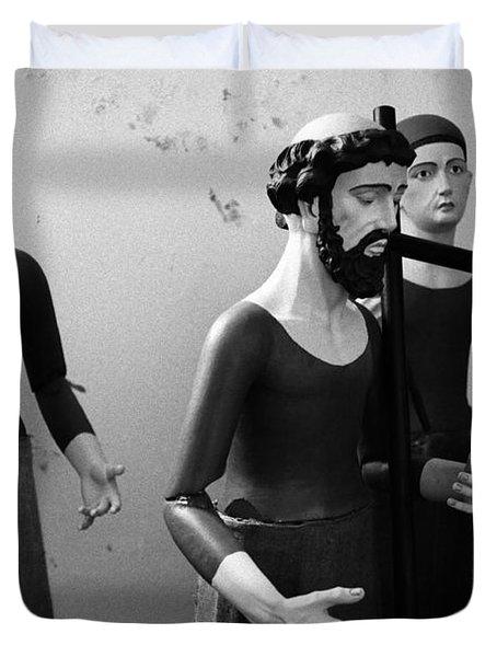 Stripped Saints Duvet Cover by Gaspar Avila