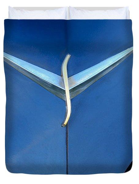 Studebaker Hood Emblem Duvet Cover by Jill Reger