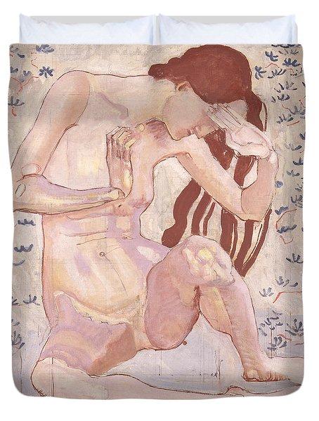 Study For Day Duvet Cover by Ferdinand Hodler