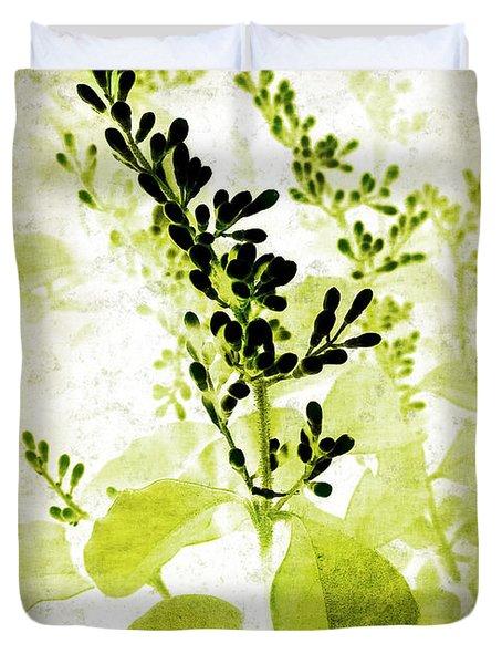 Study In Green Duvet Cover by Judi Bagwell