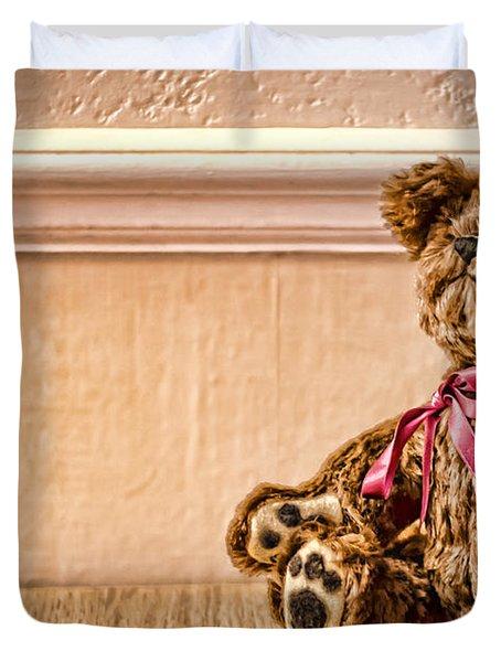 Stuffed Friend Duvet Cover by Heather Applegate