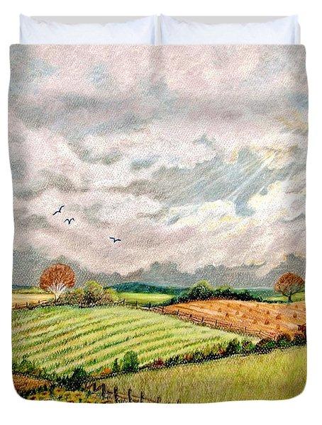 Summer Harvest Duvet Cover by Marilyn Smith