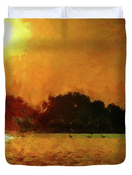 Sun Burned Duvet Cover by Jeff Kolker