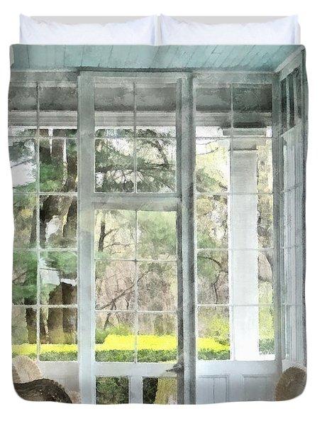 Sun Porch Duvet Cover by Susan Savad