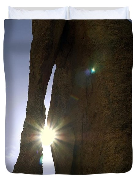 Sunburst Through Granite Duvet Cover by Sally Weigand