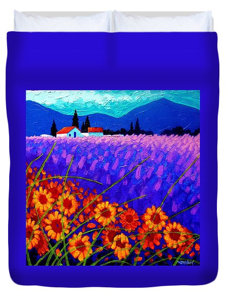 Sunflower Vista Duvet Cover by John  Nolan