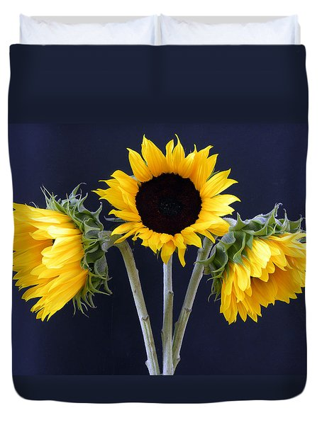 Sunflowers Three Duvet Cover by Sandi OReilly