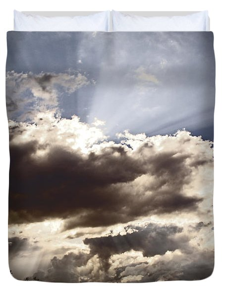 Sunlight and Stormy Skies Duvet Cover by Mick Anderson