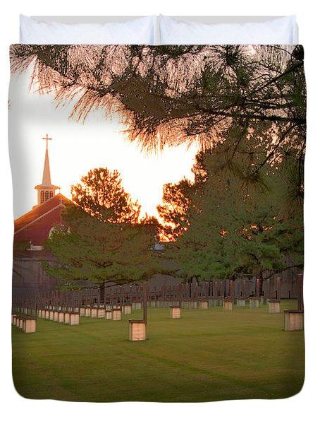Sunrise At The Alfred P Murrah Memorial II Duvet Cover by Tamyra Ayles
