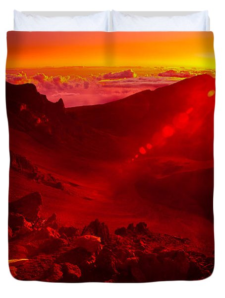 Sunrise Haleakala Duvet Cover by Harry Spitz