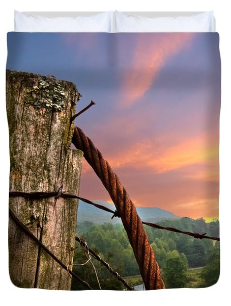 Sunrise Lasso Duvet Cover by Debra and Dave Vanderlaan
