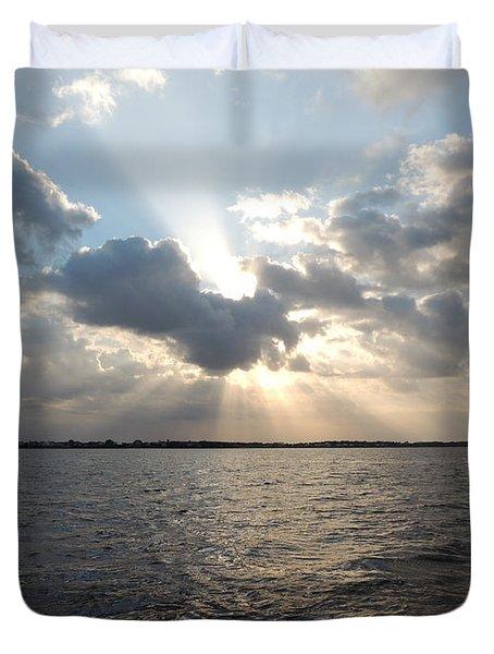 Sunrise Over Keaton Beach Duvet Cover by Marilyn Holkham