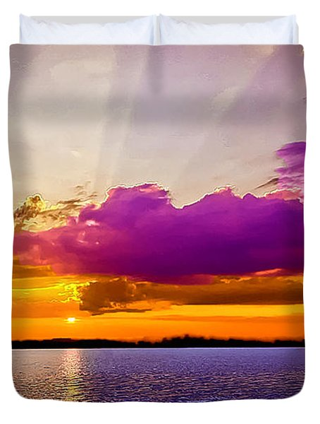 Sunset Duvet Cover by Bob and Nadine Johnston