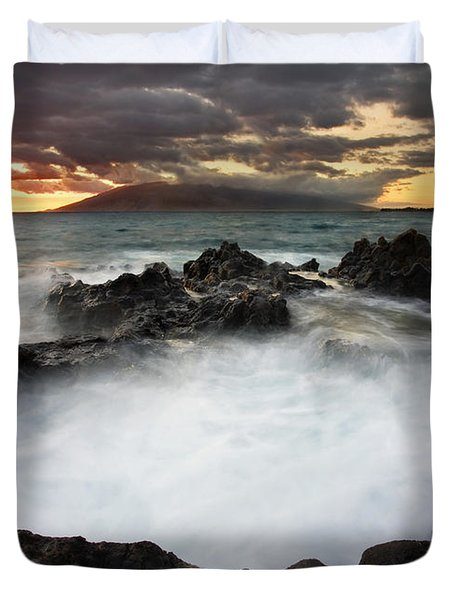 Sunset Boil Duvet Cover by Mike  Dawson