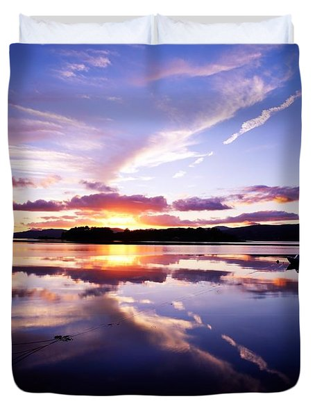Sunset, Dinish Island Kenmare Bay Duvet Cover by The Irish Image Collection