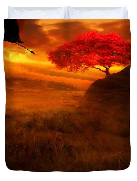 Sunset Duet Duvet Cover by Lourry Legarde