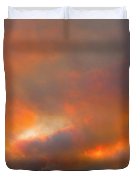 Sunset On Fire Duvet Cover by James BO  Insogna
