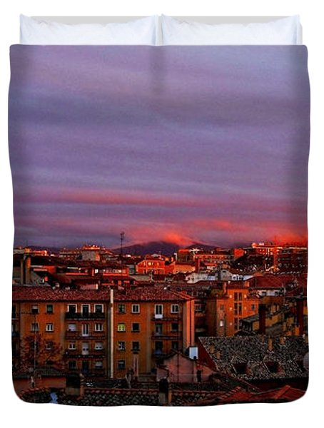 Sunset Over Segovia ... Duvet Cover by Juergen Weiss