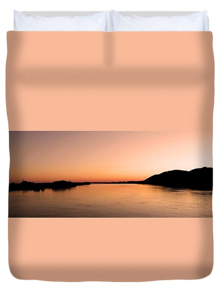 Sunset Over The Danube ... Duvet Cover by Juergen Weiss