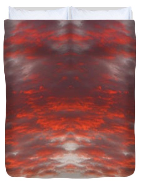 Sunset Panorama Psychedelic Trance Duvet Cover by James BO  Insogna