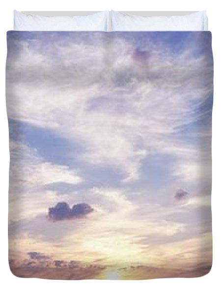 Sunsets Over The Beach, Magheraroarty Duvet Cover by The Irish Image Collection