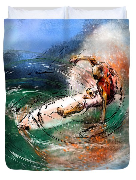 Surfscape 03 Duvet Cover by Miki De Goodaboom