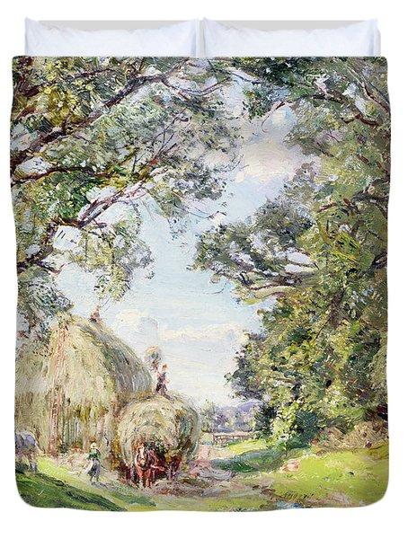 Surrey Landscape  Duvet Cover by Edmund George Warren