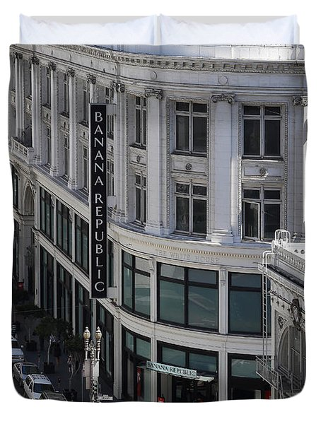 Sutter Street East View Duvet Cover by Wingsdomain Art and Photography