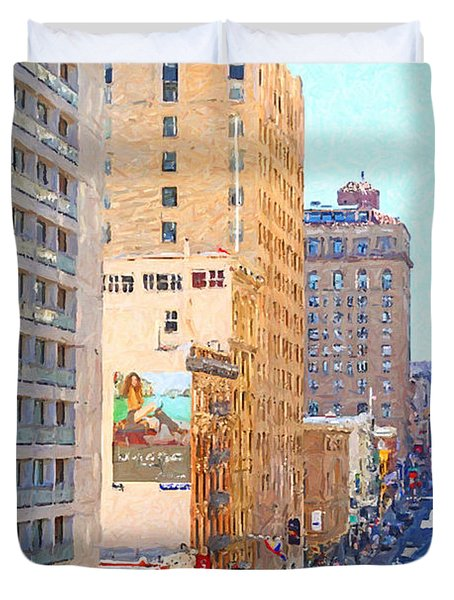 Sutter Street San Francisco Duvet Cover by Wingsdomain Art and Photography