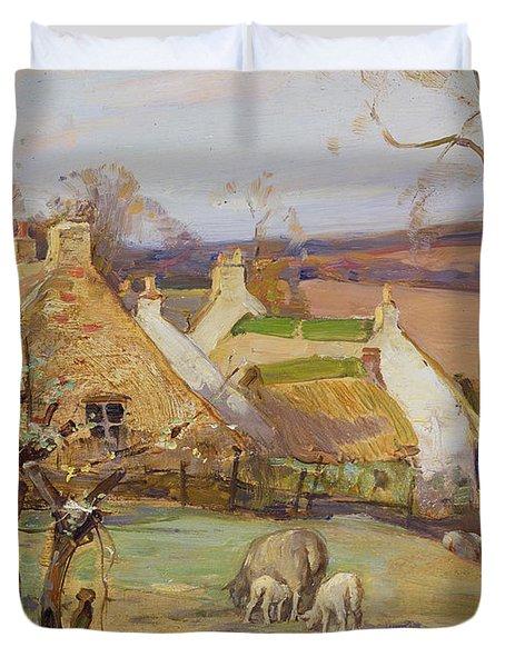 Swanston Farm Duvet Cover by Robert Hope