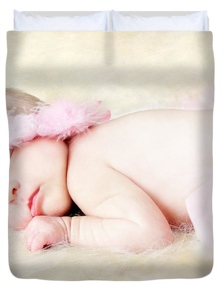 Sweet Baby Girl Duvet Cover by Darren Fisher