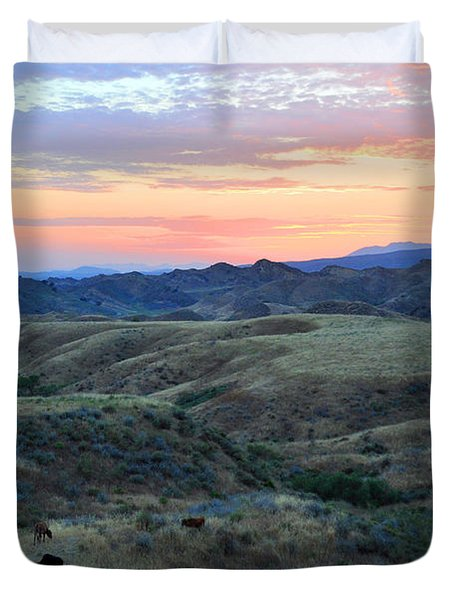 Sweet So Cal Sunset Duvet Cover by Lynn Bauer