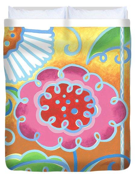Swirly World Duvet Cover by Renee Womack