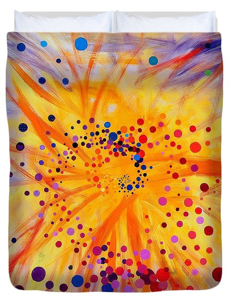 Symmetry Breaking Duvet Cover by Regina Valluzzi