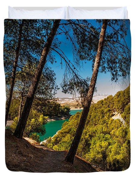 Symphony Of Nature. El Chorro. Spain Duvet Cover by Jenny Rainbow