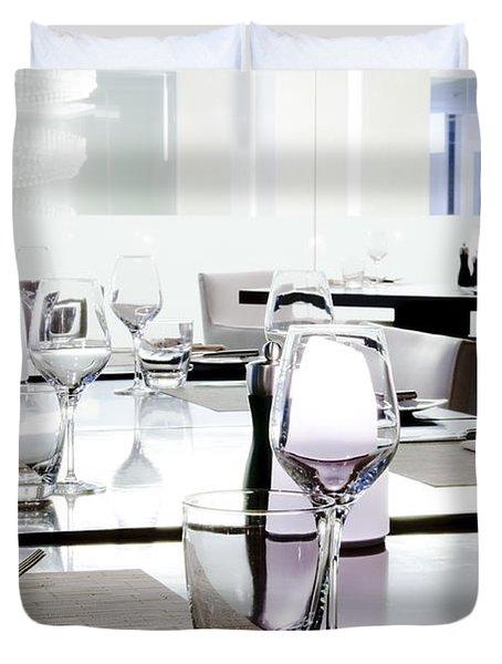 table setting Duvet Cover by Setsiri Silapasuwanchai