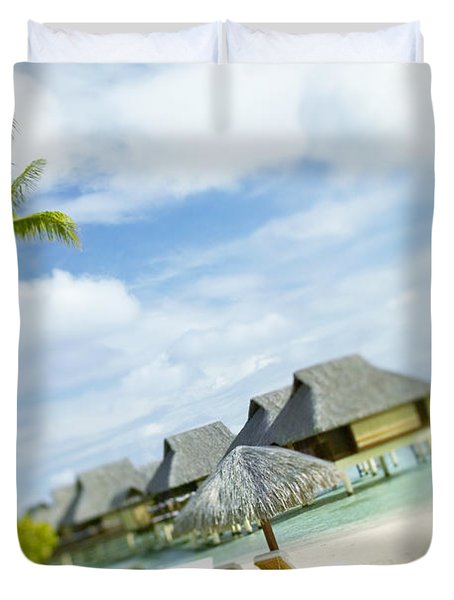 Tahiti, Bora Bora Duvet Cover by Kyle Rothenborg - Printscapes