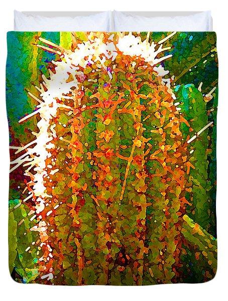 Tall Cactus Duvet Cover by Amy Vangsgard