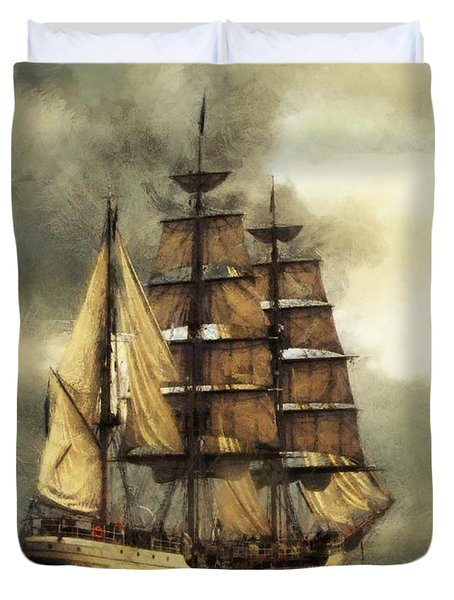 Tall Ship Duvet Cover by Marcin and Dawid Witukiewicz