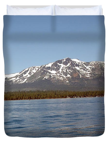 Tallac From The Lake Duvet Cover by LeeAnn McLaneGoetz McLaneGoetzStudioLLCcom