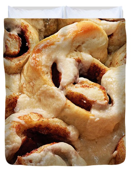 Taste Of Home Cinnamon Rolls Duvet Cover by Andee Design