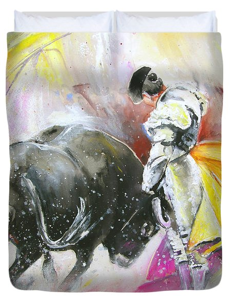 Taurean Power Duvet Cover by Miki De Goodaboom