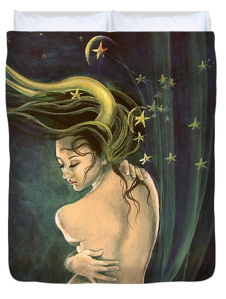 Taurus from Zodiac series Duvet Cover by Dorina  Costras