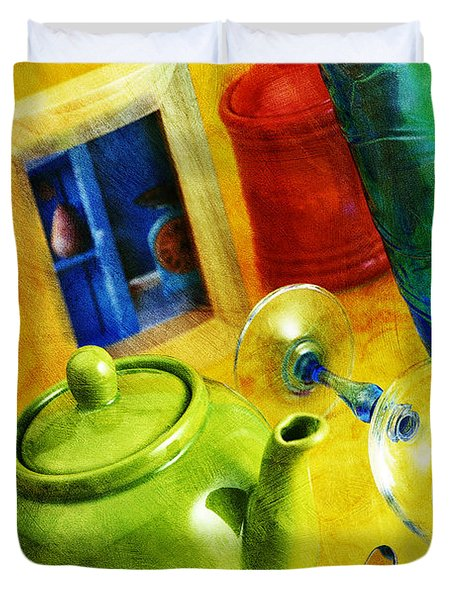 Tea Pot Duvet Cover by Mauro Celotti