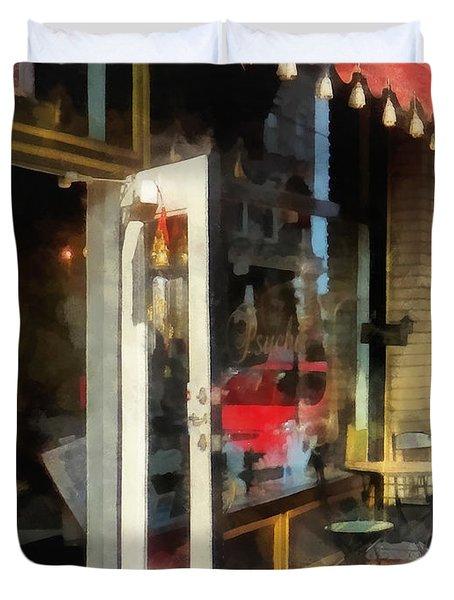 Tea Room in SoNo Norwalk CT Duvet Cover by Susan Savad
